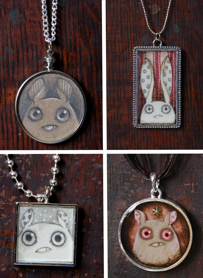 Amanda spayds original sketch pendants drop tomorrow news amanda louise spayd is releasing her handmade art pendants tomorrow june 12 at 3pm est via her online shop here each silvertone metal pendant is one of a mozeypictures Choice Image