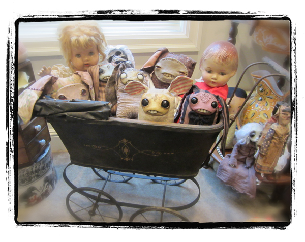 carriage of bunnies