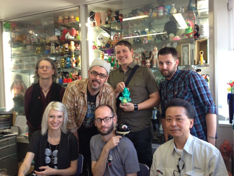 The whole group, in the Obitsu showroom!