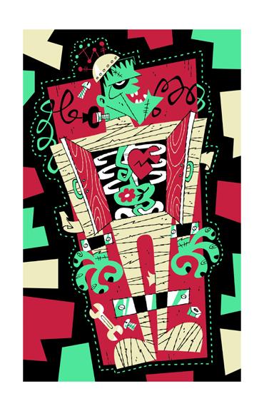 Derek Yaniger - Boris Serigraph