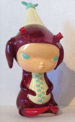 T+CP Japanese Sofubi: Kathie Olivas Calliope Jackalope Red Glitter