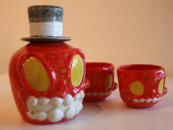 Orange Picnic Tea Set