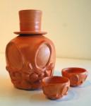 Tangerine Wash Sake Set