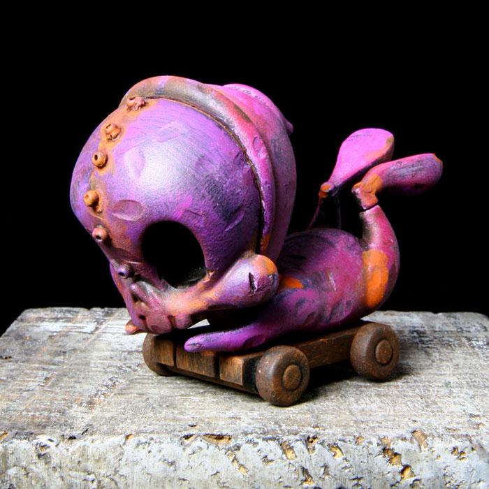 Purple and Pink Skelve Cart