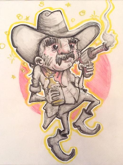 CowboyJamesBlack8x10