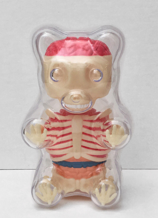 Mini Clear Gummy Bear Anatomy by Jason Freeny X 4D Frame Master ...